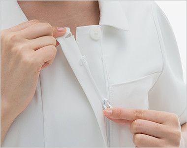 LH6217 ナガイレーベン(nagaileben) ビーズベリー 半袖ワンピース(女性用) 襟の内側はボタンとファスナー