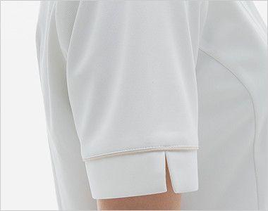 LH6217 ナガイレーベン(nagaileben) ビーズベリー 半袖ワンピース(女性用) 腕を細くみせてくれるスッキリした袖