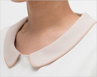 LH6237 ナガイレーベン(nagaileben) ビーズベリー ワンピース(女性用) 丸襟で女性らしい襟