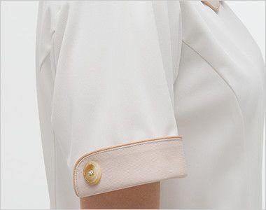 LH6237 ナガイレーベン(nagaileben) ビーズベリー ワンピース(女性用) 女性らしい優しさを感じさせるかわいい袖