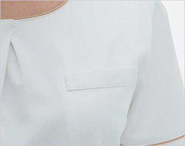 LH6257 ナガイレーベン(nagaileben) ビーズベリー 半袖ワンピース(女性用) ポケット