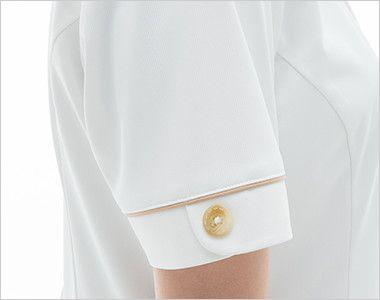 LH6257 ナガイレーベン(nagaileben) ビーズベリー 半袖ワンピース(女性用) 女性らしい優しさを感じさせるかわいい袖