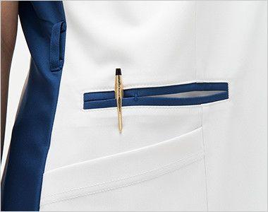 LX4072 ナガイレーベン(nagaileben) エルエックス ハイブリッドメディウェア チュニック(女性用) 収納力が豊富な多機能ポケット