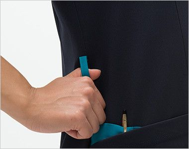 RF5122 ナガイレーベン(nagaileben) スクラブ(女性用) ループ・収納が多い多機能ポケット