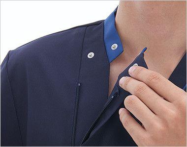 RF5127 ナガイレーベン(nagaileben) スクラブ(男性用) ボタンとファスナー