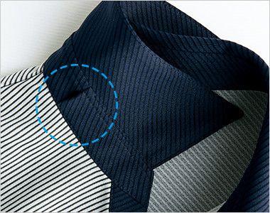 S-36951 36959 SELERY(セロリー) ニットポロシャツ ストライプ クリップタイプのリボンが挿せるアクセサリーホール付き