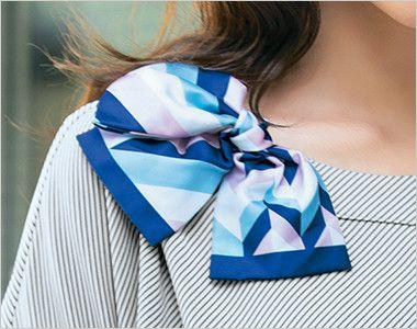 S-36961 36969 SELERY(セロリー) 半袖ニットプルオーバー [ストライプ/ニット] リボンやスカーフが通せる襟元のデザイン