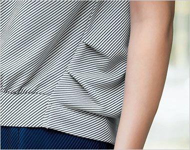 S-36961 36969 SELERY(セロリー) 半袖ニットプルオーバー [ストライプ/ニット] 着痩せ効果のあるゆったりとしたボリュームシルエット