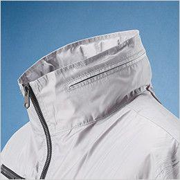 05811SET シンメン S-AIR フードインハーフジャケット(男性用) 襟廻りのファスナーで収納可能