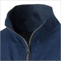 05830 シンメン S-AIR コットンワークジャケット(男性用) あえて高くした襟が風を効率的に導き、首回りの冷感・爽快感をアップ