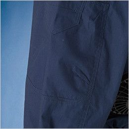 05830 シンメン S-AIR コットンワークジャケット(男性用) 綺麗なシルエットとストレスの少ない可動性を生む肘ダーツ