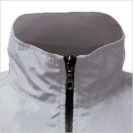 88200 シンメン S-AIR SK型ブルゾン(男性用) あえて高くした襟が風を効率的に導き、首回りの冷感・爽快感をアップ
