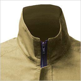 88300 シンメン S-AIR SK型綿ワークブルゾン(男性用) あえて高くした襟が風を効率的に導き、首回りの冷感・爽快感をアップ
