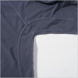 0095-40 桑和 長袖サポートシャツ 高機能消臭糸「be*quem」を使用した即効消臭