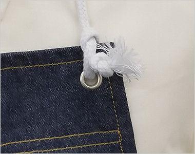 10021 桑和 デニムエプロン(ロープ) ロープで長さ調節できます