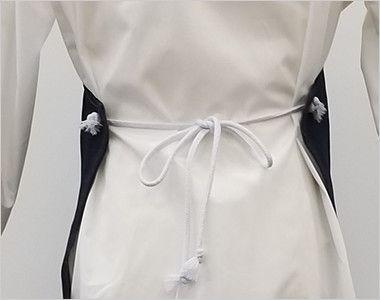10021 桑和 デニムエプロン(ロープ) 腰部分はリボンで結びときれいでおすすめ