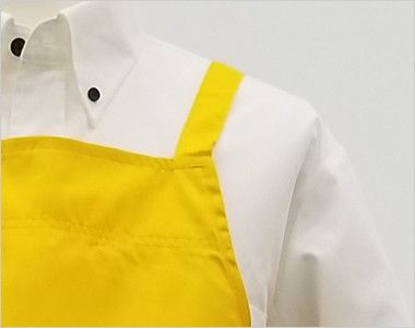 10031 桑和 胸当てエプロン(ペン差しなし) X型(男女兼用) すっきりとした肩紐