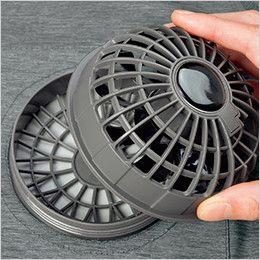 14001 G・GROUND サイクロンエアー ファンセット(ファン2個、コード1本) 脱着が簡単でお洗濯も可能