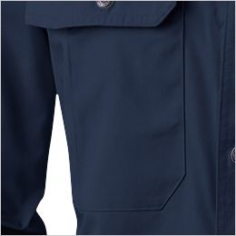 195 桑和 長袖シャツ 内側ミニポケット