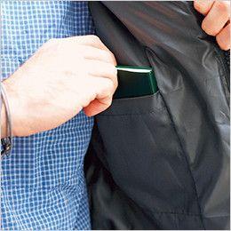 2903 桑和 軽量あたたかい おしゃれな防寒ジャンパー 内ポケット