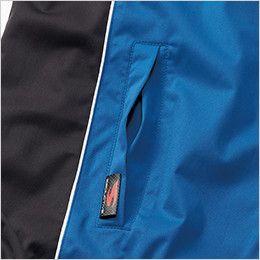 3400 桑和 防風カラーブルゾン 逆玉ぶちポケット