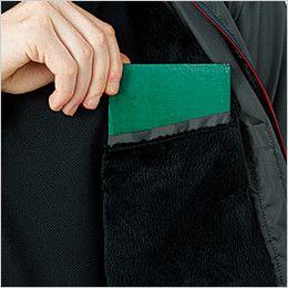 43800 桑和 かっこいい防寒ジャケット 左胸 内ポケット