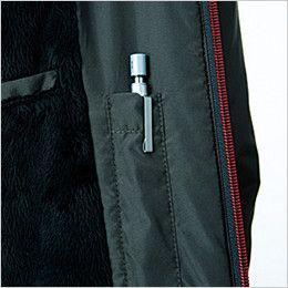 43800 桑和 かっこいい防寒ジャケット 左胸 内ペン差し