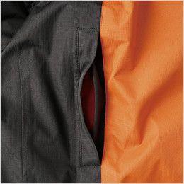 44403 桑和 防水防寒ブルゾン 逆玉ぶちポケット