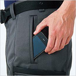 6778 桑和 カーゴパンツ ヨーロッパ風 携帯電話ポケット(スマートフォン対応)