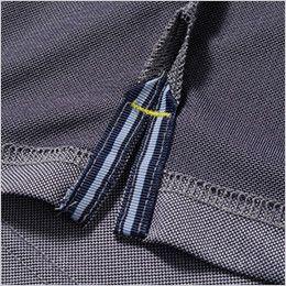 7045-51 G・GROUND 半袖ポロシャツ(胸ポケット付き) カラーテープ付きのスリット