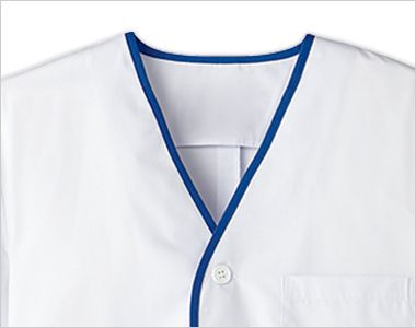 FA-347 Servo(サーヴォ) デザイン白衣/半袖(襟なし)(男性用)