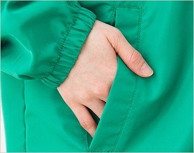 00049-FC フードインコート(男女兼用) ポケット付き