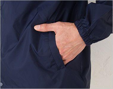 00077-CJ コーチジャケット(男女兼用) ポケット付き
