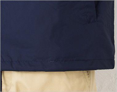00077-CJ コーチジャケット(男女兼用) 裾部分