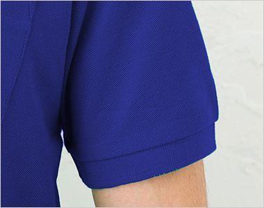 T/Cポロシャツ(ポケ付)(5.8オンス)(男女兼用) 袖口部分