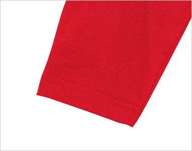 00107-CRB 5.6オンス ヘビーウェイトベースボールTシャツ(男女兼用) 3/4スリーブ 袖口部分