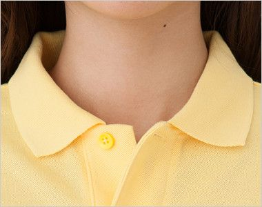 T/C長袖ポロシャツ(男女兼用)ポケ付き(5.8オンス) 襟部分
