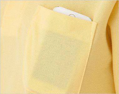 T/C長袖ポロシャツ(男女兼用)ポケ付き(5.8オンス) ポケット付き