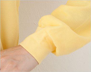T/C長袖ポロシャツ(男女兼用)ポケ付き(5.8オンス) リブ仕様