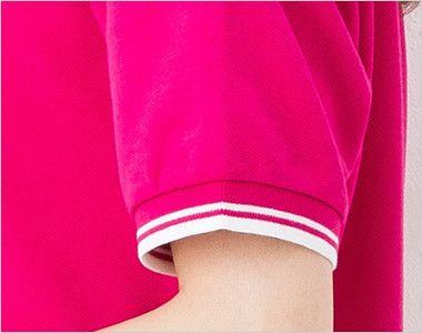 [在庫限り]00191-BLP ベーシックラインポロシャツ(5.8オンス)(男女兼用) 袖部分