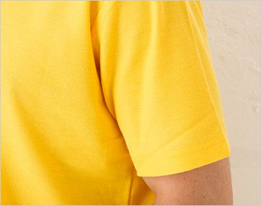 00193-CP カジュアルポロシャツ(ポケ無し)(4.9オンス)(男女兼用) 袖部分
