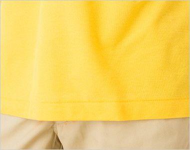 カジュアルポロシャツ(ポケ無し)(4.9オンス)(男女兼用) 裾部分