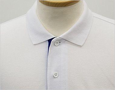 00195-BYP ベーシックレイヤードポロシャツ(5.8オンス)(男女兼用) ボタンを留めてきちんとした印象