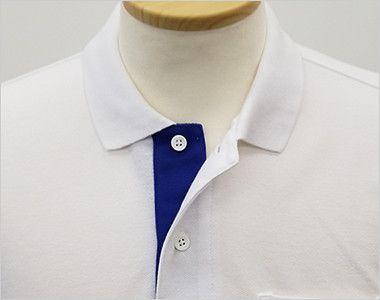 ベーシックレイヤードポロシャツ(5.8オンス)(男女兼用) ボタンを外してオシャレな印象