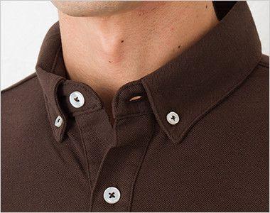 00197-BDP ボタンダウンポロシャツ(4.9オンス)(男女兼用) 爽やかな印象のボタンダウン