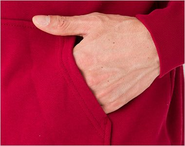 00216-MLH 裏パイル フーデッドライトパーカー(8.4オンス)(男女兼用) 両脇ポケット付き