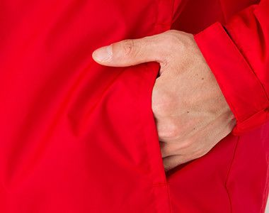 軽防寒 リフレクベーシックコート 中綿(男女兼用) 両脇ポケット付き