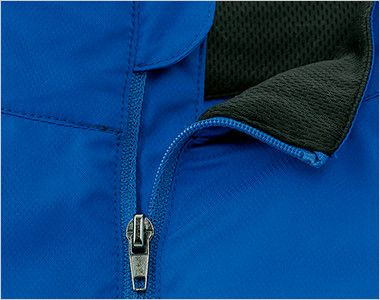 00235-LSC ライトストレッチジャケット(男女兼用) チンガード付き襟部分