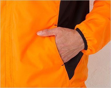 00236-FSC 裏フリース ストレッチジャケット(男女兼用) ポケット付き