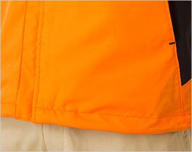 裏フリース ストレッチジャケット(男女兼用) 裾フラシ仕様